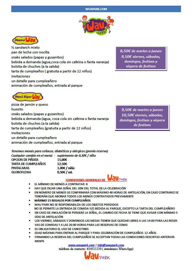 menu segunda hoja waupark 2